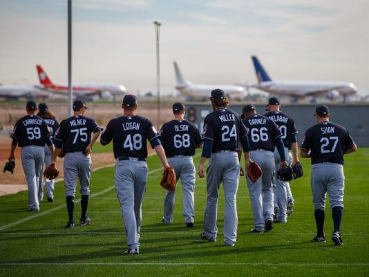 USP MLB: CLEVELAND INDIANS-WORKOUTS S BBA USA AZ