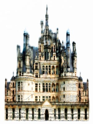 """Lori Erbes created """"Mozart's Castle"""" using a variety of media, including brushes controlled by audio."""