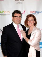 Tim Harbison, the newly-appointed Vice President of the Susan G. Komen North Jersey Board of Trustees, with wife Connie Harbison at the March 16 Komen North Jersey Pink Tie Party at The Grove in Cedar Grove. Tim and Connie were co-chairs of this year's Pink Tie Party.