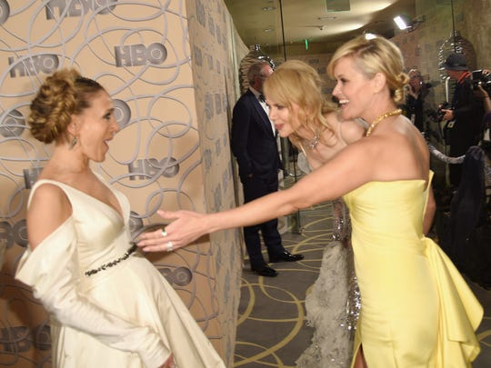 Sarah Jessica Parker, Reese Witherspoon and Nicole Kidman made each other laugh at the HBO post-Globes bash.