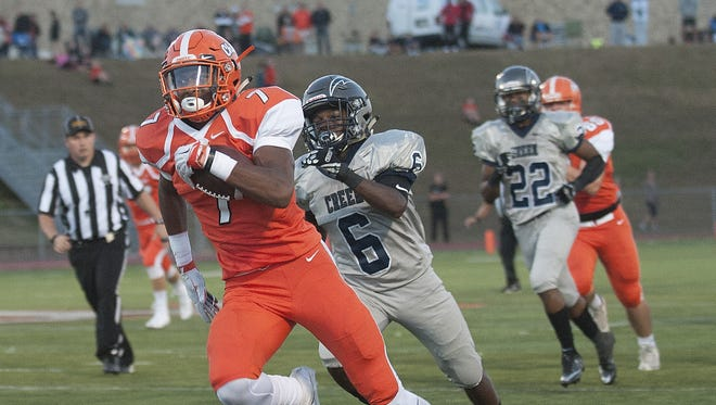 Pictured here in a game against Timber Creek earlier in the season, Cherokee senior running back John Lovett ran for nearly 200 yards and scored four touchdowns in Friday's 37-7 victory over Hammonton.