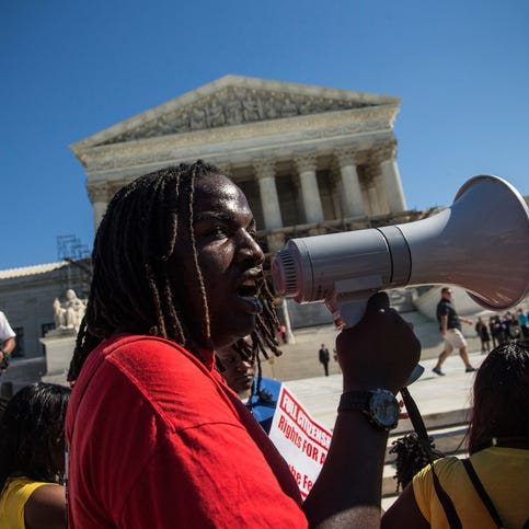 The Supreme Court last addressed race in October 2013, when protesters rallied in support of affirmative action policies.