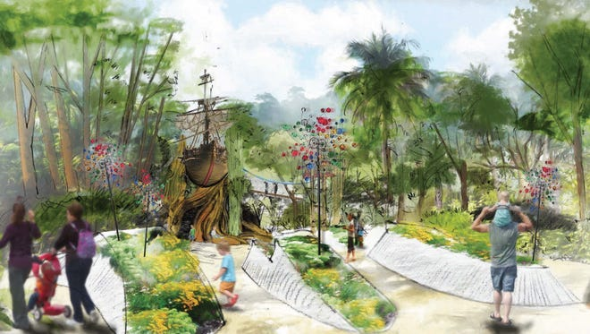 The planned Children's Garden will be a fun, whimsical and natural setting inviting kids to explore and learn.