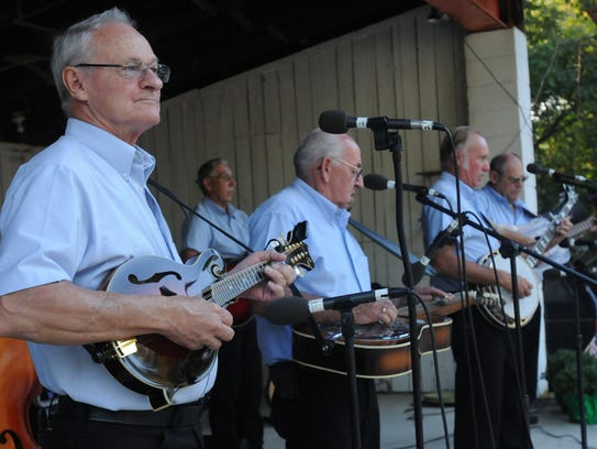 The Guilford Station Bluegrass Gospel Band plays at