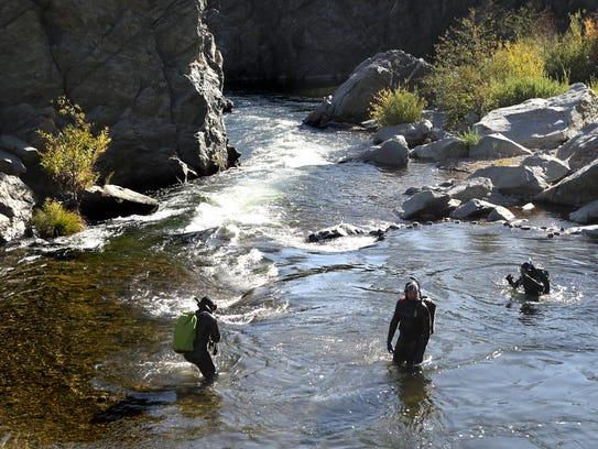 U..S Fish and Wildlife Service fish biologist Sam Provins,
