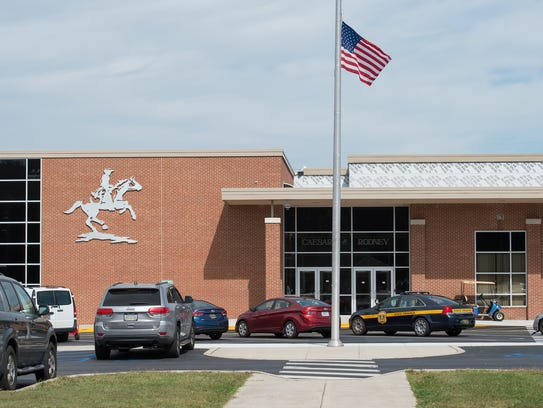 View of Caesar Rodney High School in Camden.