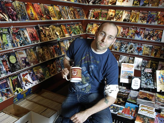 Matt Johnson, shown here in 2008, found owning a comic book store one of the most frustrating experiences of his life. Yet his idea for a combination comic book store and coffee shop inspired one of the best shops in the country, according to author Dan Gearino.