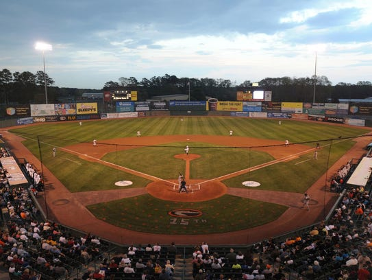 A view of Arthur W. Perdue Stadium, home of the Shorebirds, as it looked in 2010.
