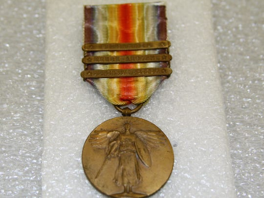 Baxter County residents enlisted in the armed forces at the conclusion of 'The Great War' would have earned the World War I Victory Medal. This medal has clasps St. Mihiel, Meuse-Argonne and the Defensive Sector.