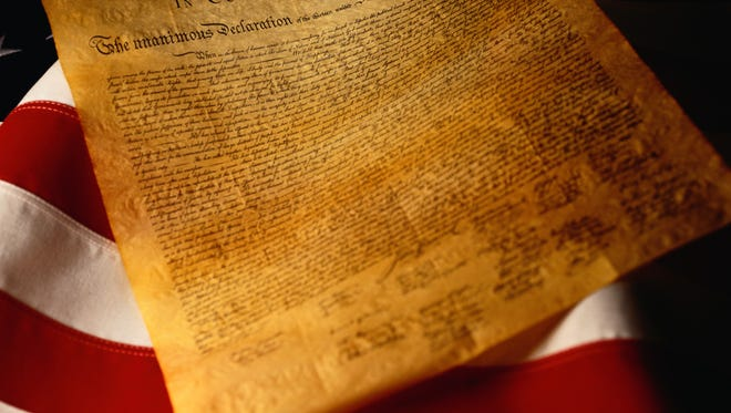 The Declaration of Independence set out some guidelines for freedom, but it also restricted the right to vote.