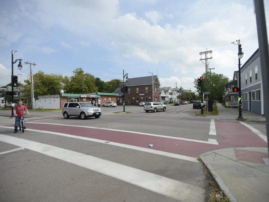 The southbound bike path on North Winooski Avenue will be part of the experimental infrastructure changes in Open Streets BTV.