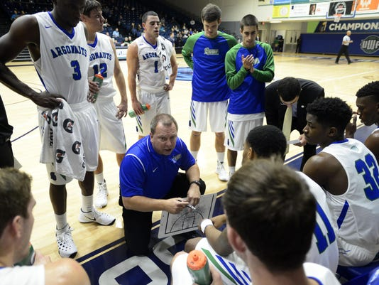 University of West Florida mens basketball take on University of Alabama Huntsville