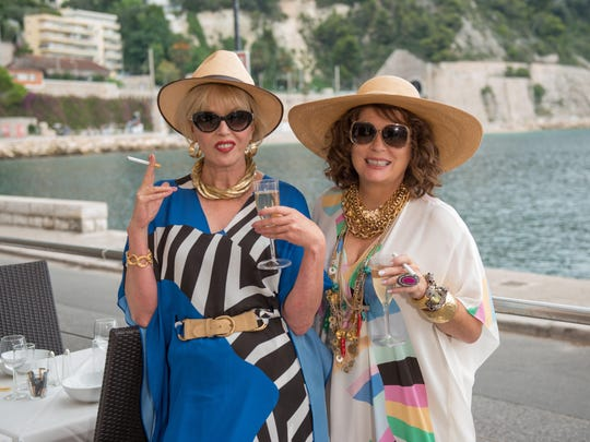 "Jennifer Saunders and Joanna Lumley in ""Absolutely Fabulous: The Movie."""