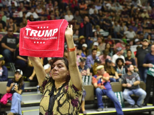 President-elect Donald Trump spoke to several thousand people at the Selland Arena in Fresno last summer.