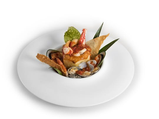 """Lazy man's"" cioppino features shellfish meat removed from the shells before serving."