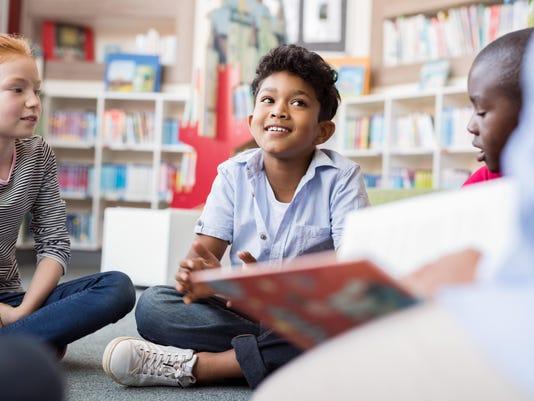 Children listening stories
