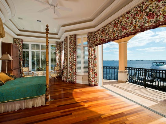 Master suite of Bayshore Drive house