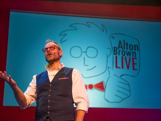 Food Network star Alton Brown will bring his culinary variety show to Barbara B. Mann Performing Arts Hall in Fort Myers Thursday.