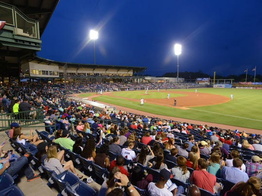 Fans take in a Mississippi Braves game at Trustmark Park in Pearl.