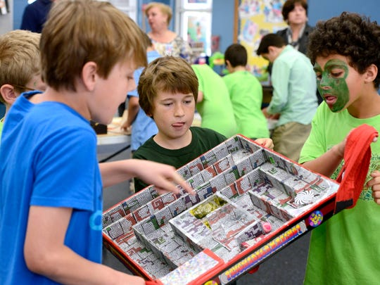 Helen Caro Elementery students learn hands on problem solving