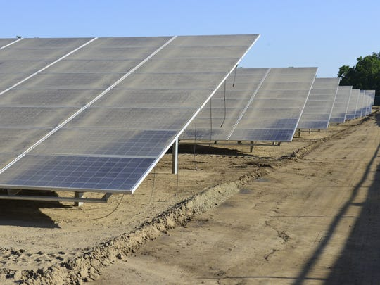 More than 11,000 solar panels were installed at this solar farm near Farmersville.