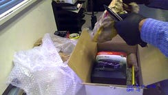 Investigators in Oakland, California opened a box,