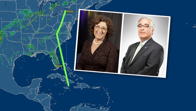 Jane and Larry Glazer were aboard the Naples-bound plane that crashed off of Jamaica Friday