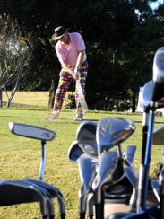 Frank Byers practices for the Santa Claus Open Golf Tournament at Hobe Sound Golf Club. The 14th Santa Claus Open: Cocktail Party, 6 p.m. Dec. 7. Golf Tournament, 7:30 a.m. Dec. 7. The Stuart Yacht & Country,3883 S.E. Fairway E.,Stuart.Individual Player: $250 Foursome: $900, $1000 after Nov. 28.www.mentorbig.org;facebook.com/mentorbig