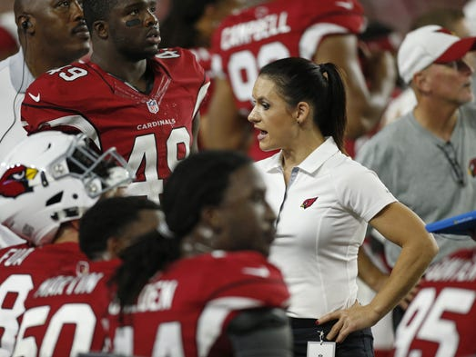 NFL Jersey's Pro Line Women's Arizona Cardinals Calais Campbell Team Color Jersey