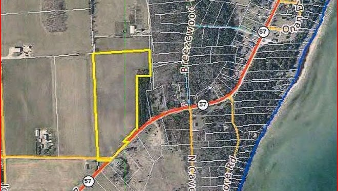This screen grab shows the Door County Resources Committee's map of the location for the campground.