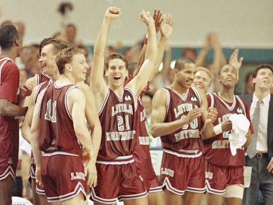 Members of the Loyola Marymount University basketball