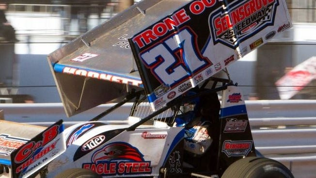 Greg Hodnett never trailed in recording the 410 Sprint victory in the Northeast racing opener Sunday at Lincoln Speedway.