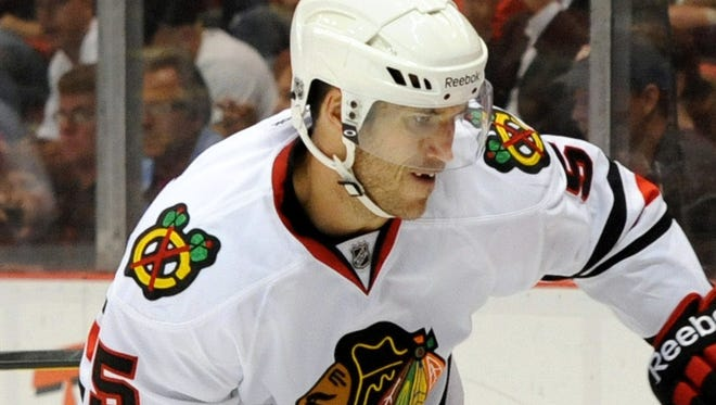 Steve Montador last played in the NHL with the Chicago Blackhawks.