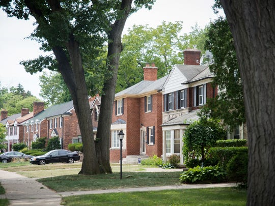 Canterbury Road in Greenacres, a Detroit neighborhood, on Thursday, July 12, 2018.