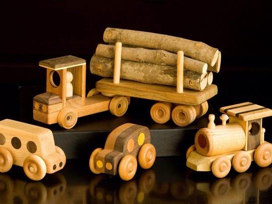 Wooden toys by Jake Szramek