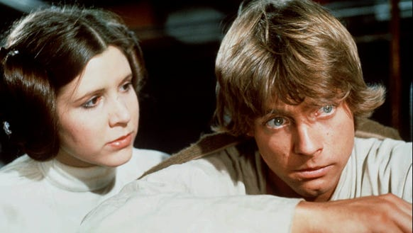 A scene not yet seen in the new movie: Princess Leia