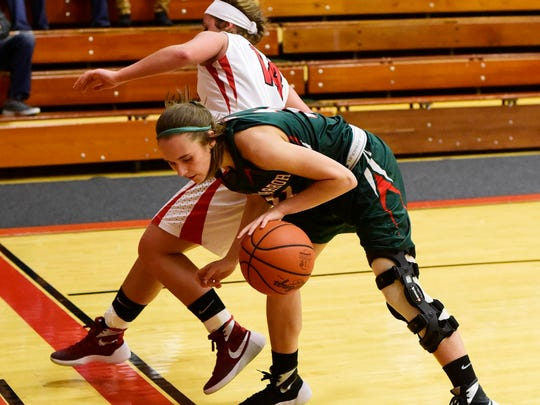 Oak Harbor's Abby Dornbusch returned to the court Tuesday