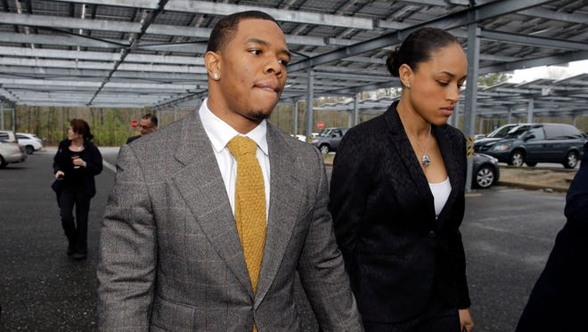 NFL Commissioner Roger Goodell admitted Friday that he regrets meeting with Ray and Janay Rice, left, together during their domestic violence investigation.