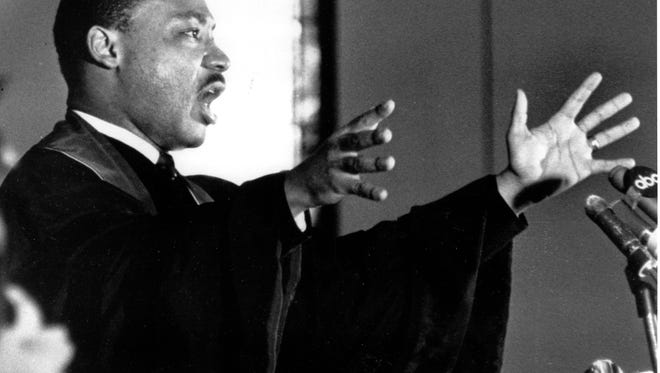 The Rev. Dr. Martin Luther King Jr. in 1967. That year, he spoke out against the Vietnam War, calling it a waste of America's youth and treasure.