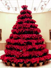 Norton Art Gallery's poinsettia tree in 2006.