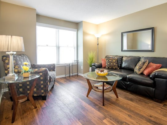 A living room in the Wellington Apartment Homes, 4700