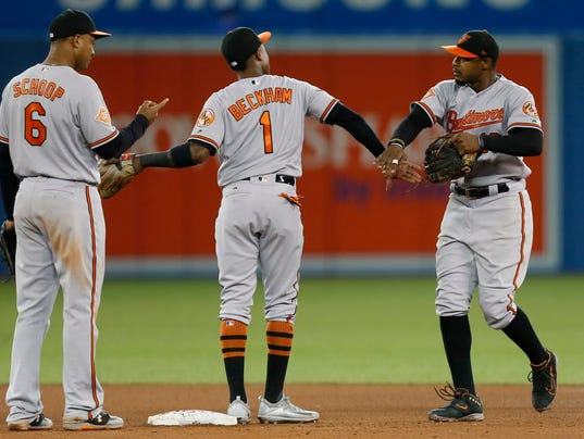 USP MLB: BALTIMORE ORIOLES AT TORONTO BLUE JAYS S BBA TOR BAL CAN ON