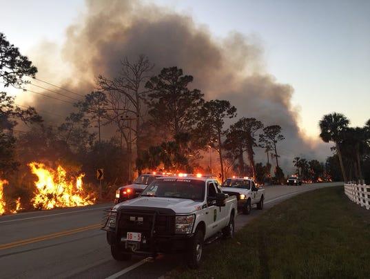 Volusia County brush fire