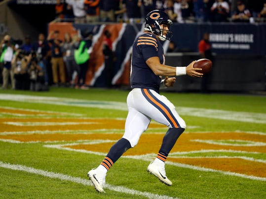 a786ab2b4 charlotteobserver.com Trubisky shows promise despite late INT in debut with  Bears
