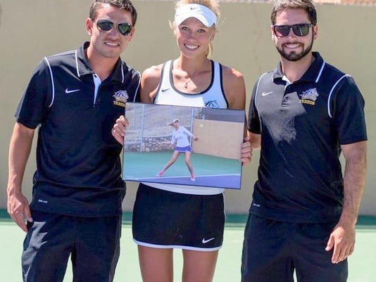 WNMU's Ganna Tiurina was named the Athlete of the Year and received a scholar award.