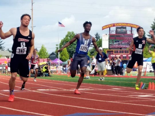 Olympic's Adam Johnson placed second in the Class 2A