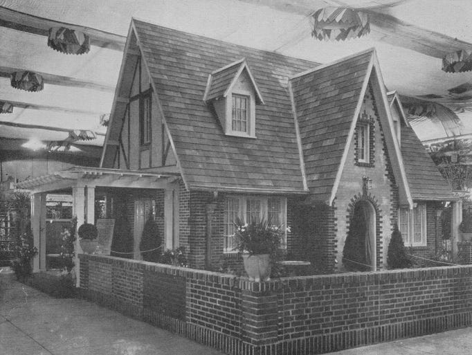 The 1923 Indianapolis Home Show centerpiece home.