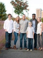 Jaison Williams joined the Williams family (left to right: Drew, Ashley, Jaime, Jack, Jaison and Maggie) when he was 14 years old after spending years in the foster care system.
