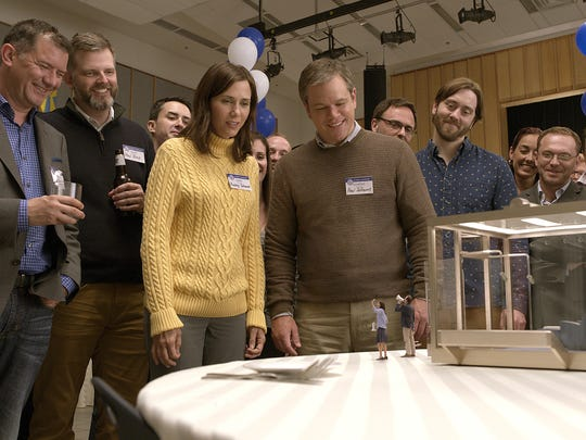 "Kristen Wiig and Matt Damon in ""Downsizing."""