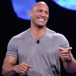 """ANAHEIM, CA - AUGUST 14:  Actor Dwayne Johnson of MOANA took part today in """"Pixar and Walt Disney Animation Studios: The Upcoming Films"""" presentation at Disney's D23 EXPO 2015 in Anaheim, Calif.  (Photo by Jesse Grant/Getty Images for Disney) ORG XMIT: 565171445 ORIG FILE ID: 484053146"""